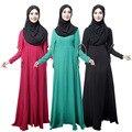 Новые Абая Мусульманских Женщин длинное Платье Турецкая Исламская Одежда хиджаб Турция Халат Мусульманского Труба рукав платья Дубай кафтан Черный