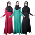 Novo Abaya Mulheres Muçulmanas Vestido longo hijab Islâmico Turco Peru Roupas Robe Musulmane manga Trompete vestidos de Dubai kaftan Preto