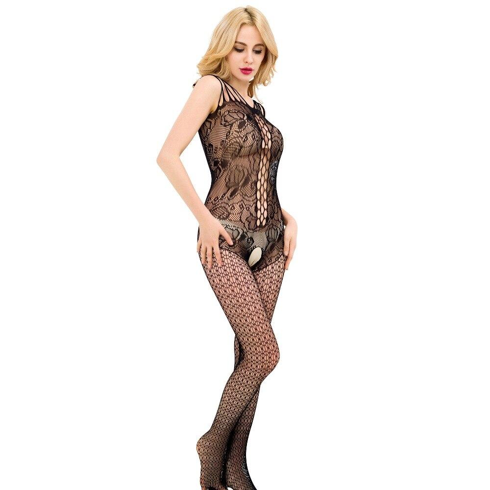 Women Sexy Lingerie Hot Bodystockings Bodysuit Open Crotch Mesh Fishnet Bodystocking Erotic Lady Intimates