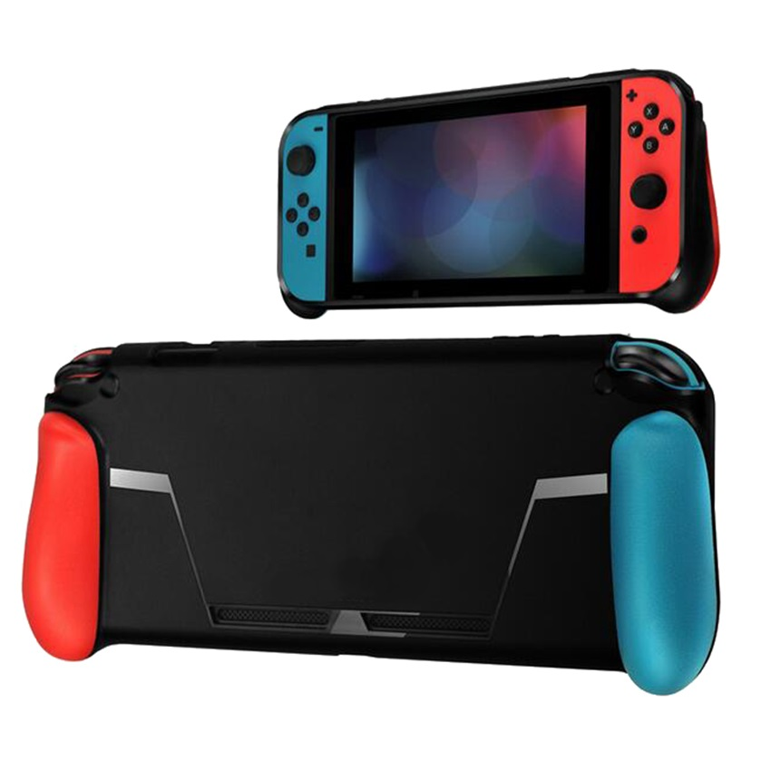 Soft Protective Case for Nintend Switch NS NX Console TPU Shell Handle Grip with Game Card Slot Anti-Shock Cover Caps