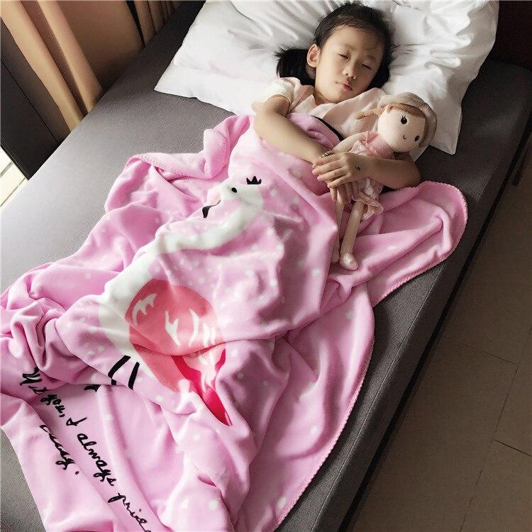 Christmas Soft Fleece Baby Blanket Swaddle Rabbit clouds flamingo cartoon thick blankets BedSpread Kids Bedding Sofa
