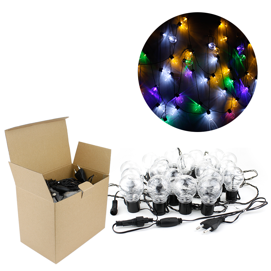 6m String Lights+20pcs Globe Led Bulb Indoor/outdoor Hanging Umbrella Garden Patio Lamp Lights Decoration For Party Wedding Lighting Strings