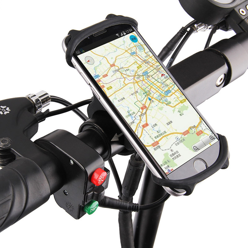 Bicycle <font><b>Holder</b></font> Silicone Support Universal Mobile Cell <font><b>Phone</b></font> Handlebar Mount Band <font><b>Bike</b></font> GPS Clip For iPhone Samsung Xiaomi PA0115 image