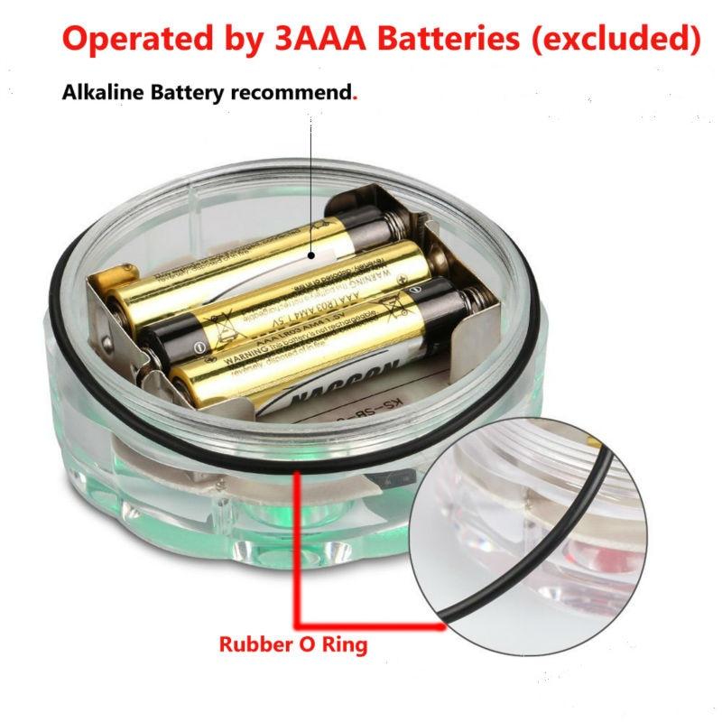 Remote Control LED RGB Submersible AAA Battery Operated LED - Pencahayaan perayaan - Foto 3