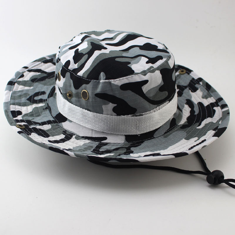 f27893900550a Men's Camouflage Cap Tactical Military Bucket Hats Jungle Outdoor Soldier  Combat Cap Men's Casual Hunting Hiking Snapback Hat-in Bucket Hats from  Apparel ...