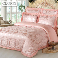 CLORIS New Cotton Bedding Kit Plaid Bedspread Family Bed Sheet Satin Comforter Bedding Set King Queen Size Bedclothe Duvet Cover