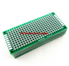 25 pcs 3X7cm 3*7cm Double Side Prototype pcb Breadboard Universal for Arduino 1.6mm2.54mm Practice DIY Electronic Kit Tinned