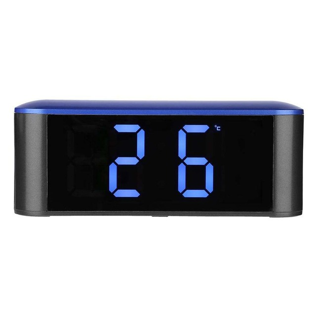 Mirror USB Desk Clock with Thermometer