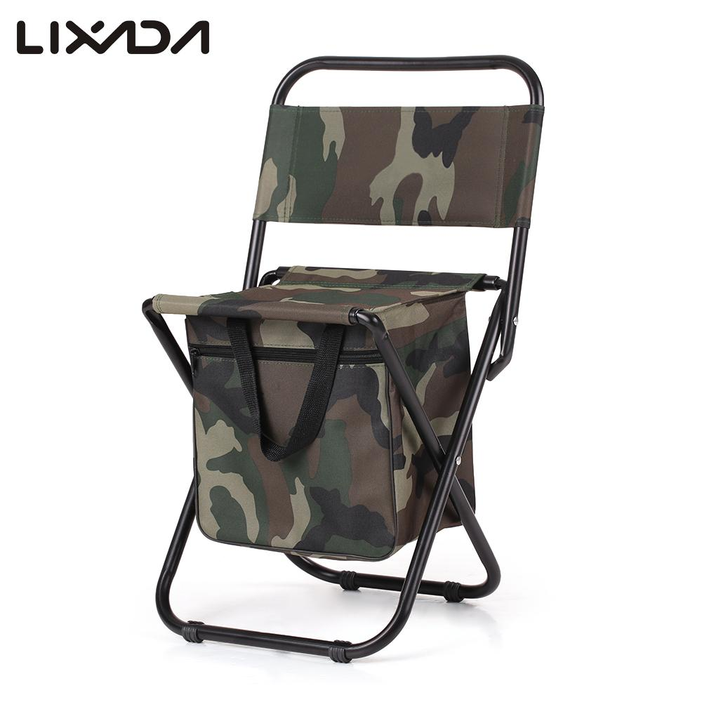Folding Fishing Chair Sillas Camping Chair Camo Pocket