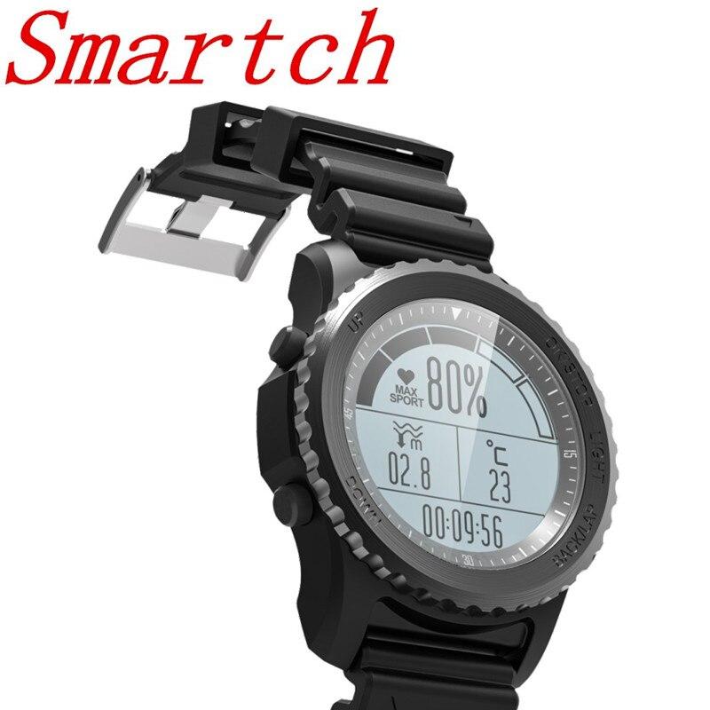 Smartch S968 Outdoor Sport Watch GPS Smart Watch Swimming Snorkeling Climbing Wristwatch IP68 Waterproof Heart Rate Clock Round smart baby watch q60s детские часы с gps голубые