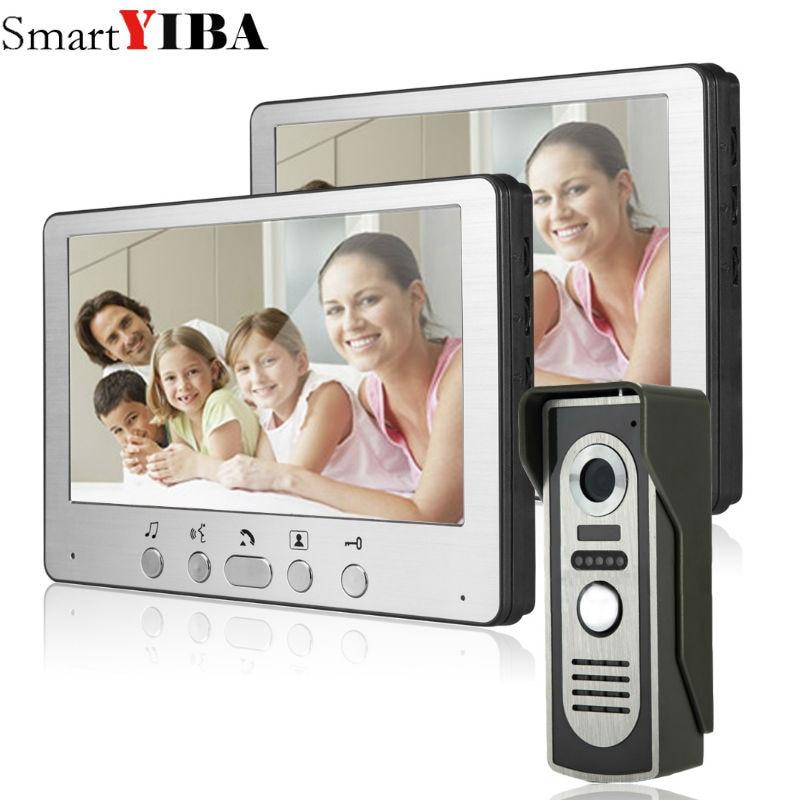 """SmartYIBA 7"""" Wired Video Intercom video door phone doorphone doorbell intercom system for home apartment IR door camera"""