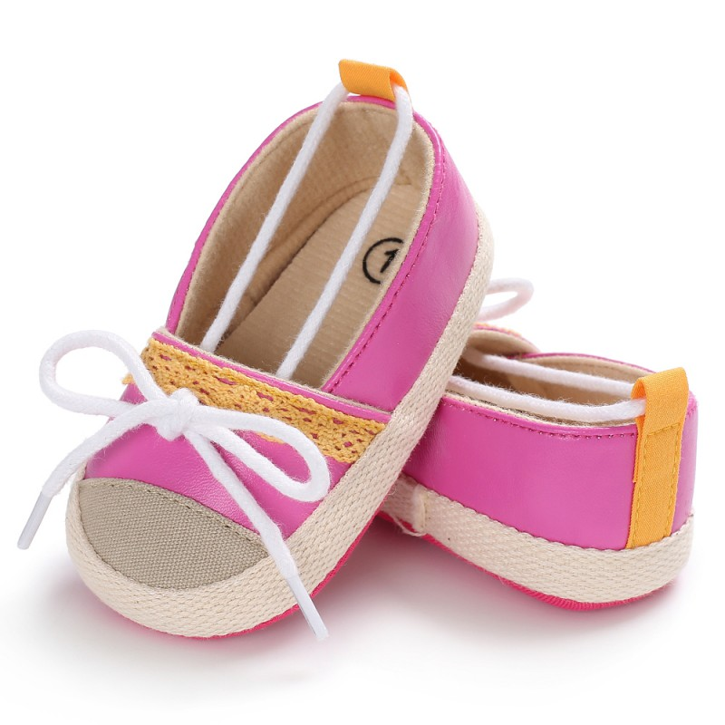 Cute Baby Girl Knit Crib Shoes Infant Toddler Newborn Bowknot Princess First Walkers Soft Crib Shoes Q1