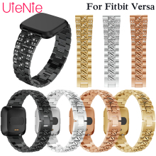 For Fitbit Versa smart watch Band Aluminum alloy Watch Strap Screwless Bracelet Replacement Metal Wristbands Accessories frontier classic watch strap for fitbit versa band replacement metal with rhinestone wristbands accessories steel strip