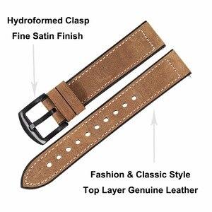 Image 3 - TRUMiRR prawdziwej skóry i z gumy silikonowej zespół + ekrany ochronne do zegarka Samsung Galaxy 46mm 42mm pasek do zegarków stal zapięcie pasek
