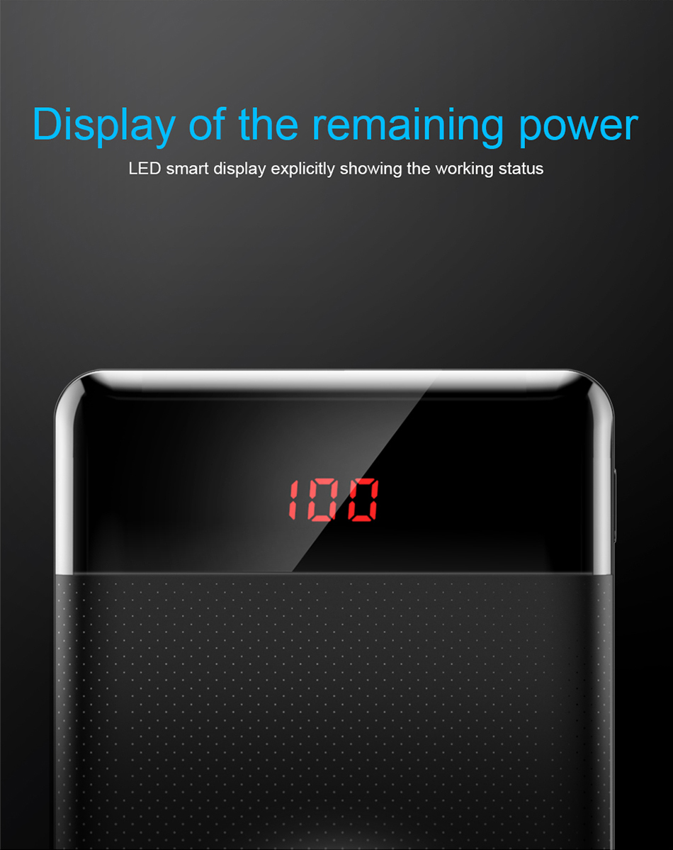 Baseus 10000mAh Power Bank For Xiaomi Samsung iPhone Huawei Powerbank Portable Mini Dual USB Charging External Battery Pack Bank 6