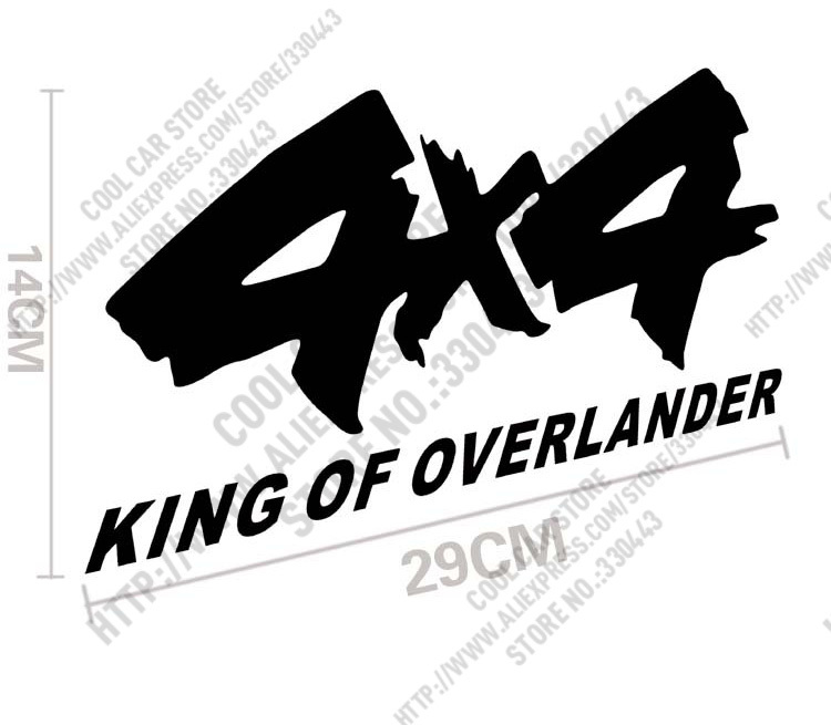 Online shop 10 pieces 4x4 king of overlander car sticker car reflective decal for jeep compass renegade grand cherokee wrangler 4x4 awd aliexpress mobile