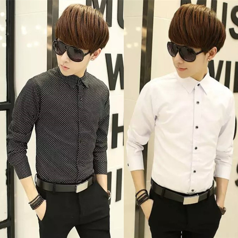 2016 Hot Sale Spring And Summer Style High Quality Men Tops Long Sleeve Occupation Business Formal Slim Work Shirt Tops