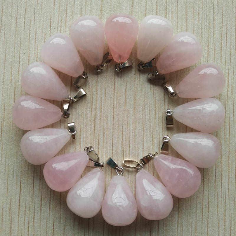 O envio gratuito de 50 pçs/lote atacado sortido misturado pedra natural gota água pingentes encantos caber colares jóias fazendo