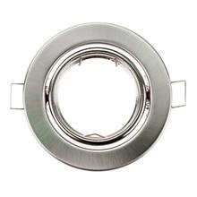 Круглый никелевый Встраиваемый светодиодный потолочный светильник регулируемая рама MR16 GU10 лампа светильник держатель