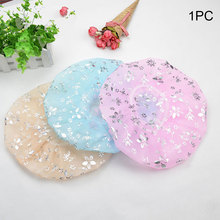 Thicken Waterproof Travel Elastic Band Kitchen Hair Cover Floral Print Bathroom