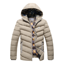 Winter Jacket Men  Brand Parka Men Clothing Zipper Cotton Padded Hooded Thick Quilted Jackets Coat Mens Hoodies