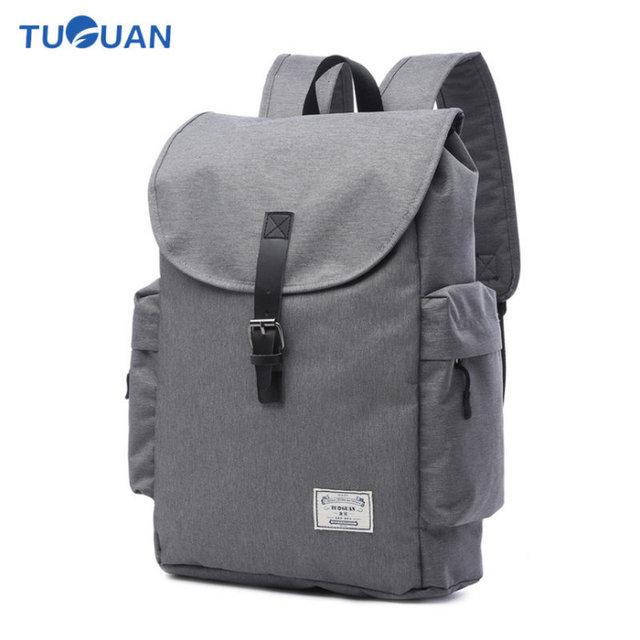 17 Inch Men Canvas Backpack Waterproof England School Bags Waterproof  Laptop Backpack for Women School Bags Mochila Masculina 50816929d8c43