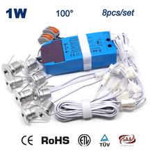 8pcs 1w + Cables Dimmable Led Downlight Lamp 15mm 80Ra Dimming Bulb Night Light 100Lm/W