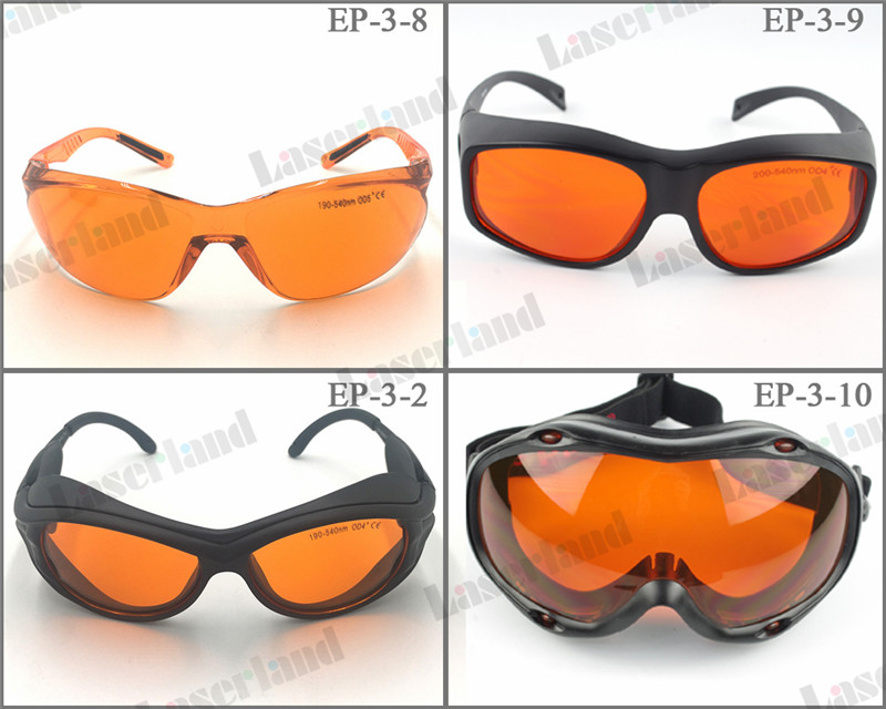 EP 3 200nm 355nm 405nm 450nm 532nm 540nm OD4 Green Laser Protective Goggles Glasses