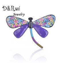 Women Enamel Dragonfly Brooches Pins for Clothes Accessories Girls Brooch Animal Pin Fashion Jewelry Brooch Metal Female Brooch frogs brooches for women accessories green enamel pin metal animal enamel rhinestone brooch cute kids pin fashion karl jewelry