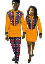 African Bazin Riche Dresses Top Fashion Africa Bazin Riche 2017 African New Fashion Couples Clothing Print Dress (women+men)