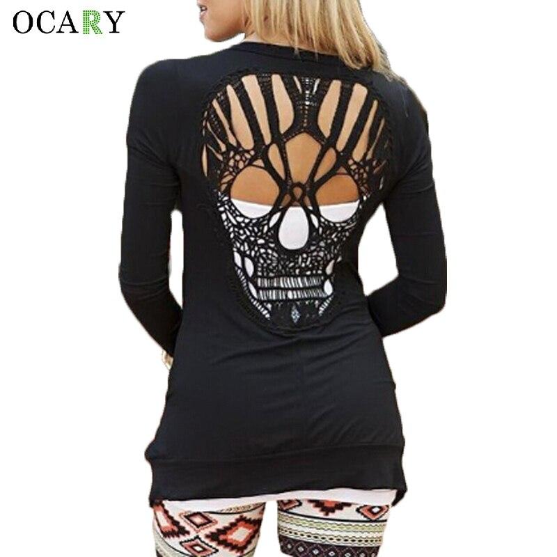 Posteriore Del Cranio Scava Fuori Le Donne Maglioni Cardigan Manica Lunga Primavera Estate Sottile Cardigan Blusas Sexy Del Corpo Top Plus Size XXL