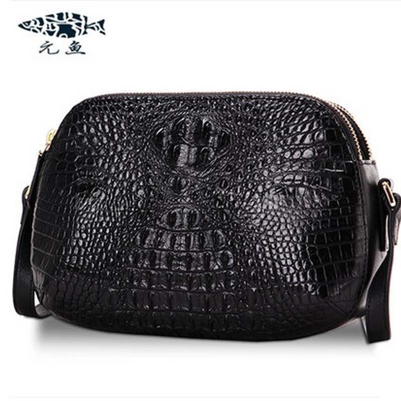 yuanyu hot new free shipping crocodile handbag single shoulder bag leather inclined  large capacity fashion men bag