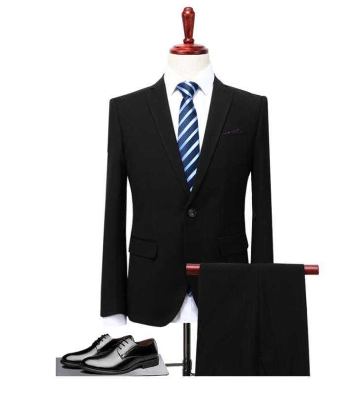 (Giacca + Pantaloni + Maglia) 3 Pezzi Dell'abito Vestito Da Uomo Slim Fit Usura Uomini D'affari Formale Abito Nero Costume Sposa sposato vestito