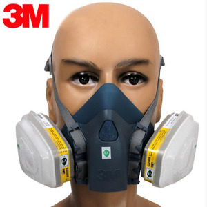 Image 2 - 3M 7502 Respirator Mask 17 in 1 Suit Industry Painting Spray Dust Gas Mask With 3M 501 5N11 6001CN Chemcial Half face Mask