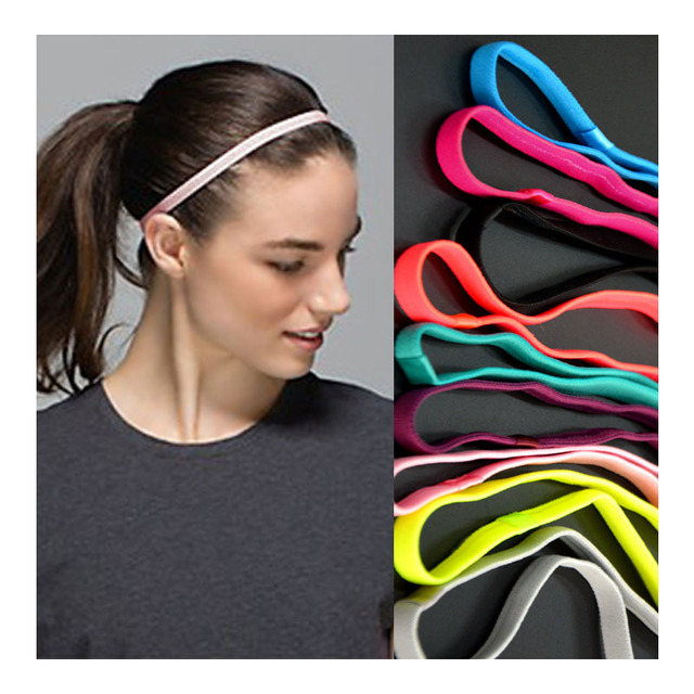 100pcs lot Sports Elastic Headband Anti-slip Sweatbands Headbands for women  Men Football Soccer Yoga Hairband 10 Colors 29e74986288