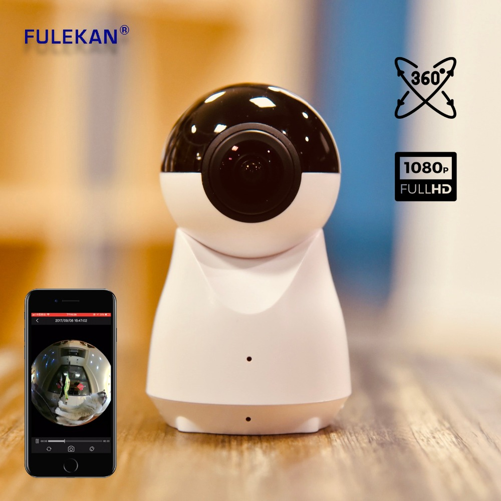 360 WIFI IP Camera 2MP Panoramic View with Remote VR Video for Andriod or iOS CCTV Camera Free Shipping