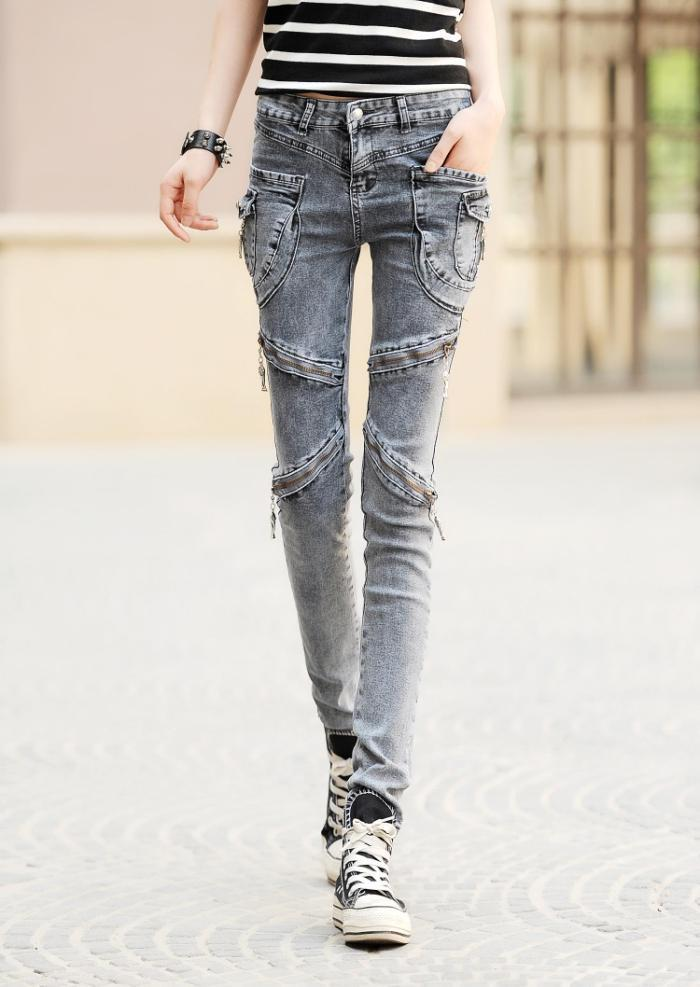 Aliexpress.com : Buy Cargo Pockets Jeans Womens Slim 2017 Cotton ...