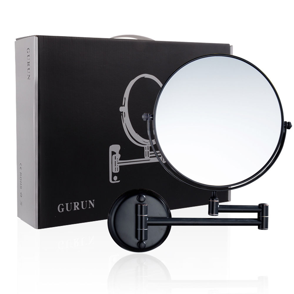 GURUN 8 Inch Wall Mounted Makeup Mirror 10X Magnifying Double Sided Swivel Cosmetic Mirror Bathroom Shaving Makeup Mirror Bronze все цены