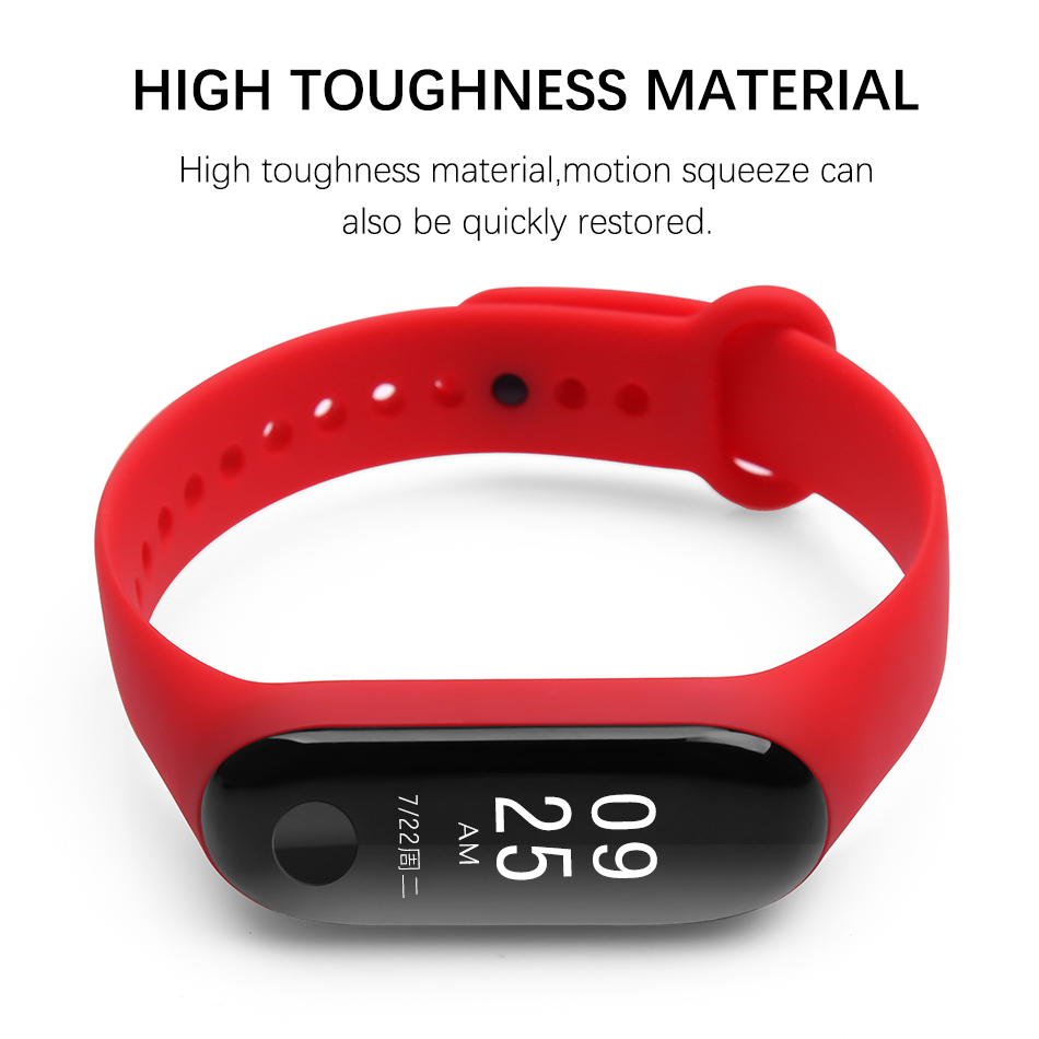 Bracelet for Xiaomi Mi Band 3 Sport Strap watch Silicone wrist strap For xiaomi mi band 3 accessories bracelet Miband 3 Strap 0032