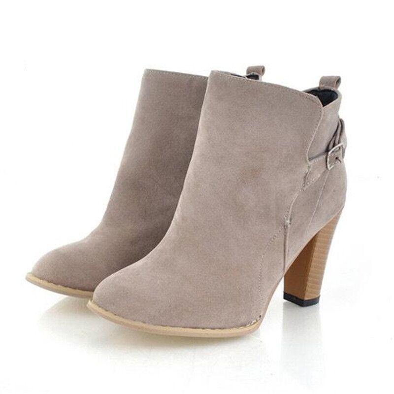 Grey Ankle Boots With Heel | FP Boots