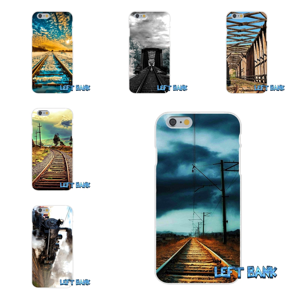 For iPhone X 4 4S 5 5S 5C SE 6 6S 7 8 Plus dark clouds railway Soft Case Silicone