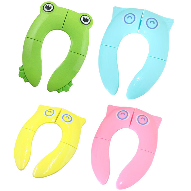 Baby Travel Folding Potty Seat toddler portable Toilet Training seat children urinal cushion children pot chair pad /mat 5