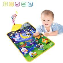 Animal Moon Touch Play Music Carpet Baby Early Education Game Toy Singing Music Blanket Baby Play Mat(China)