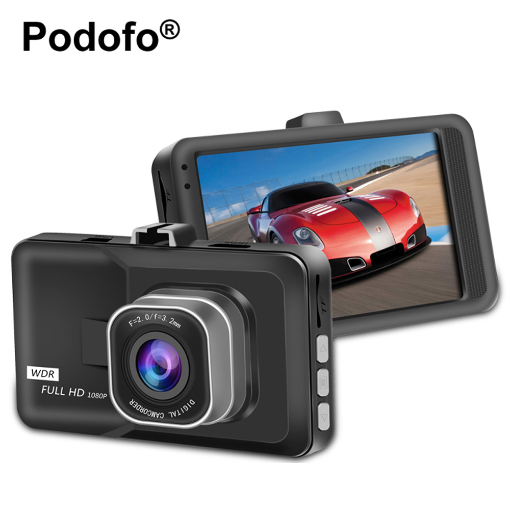 Podofo Registrator Video Recorder Car DVR Camera 3 Inch FHD 1080P Dashcam Motion Detection Blackbox Dash Cam DVRs
