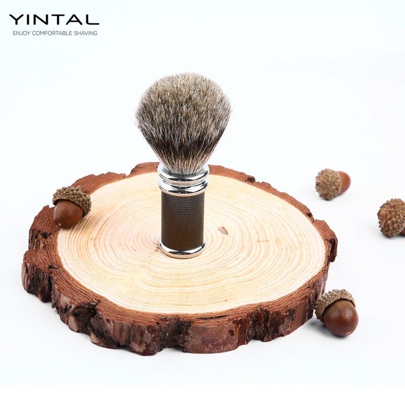Купить с кэшбэком Badger Hair Zinc Alloy Shaving Brush Men Shaving Brush Shaving Accessories