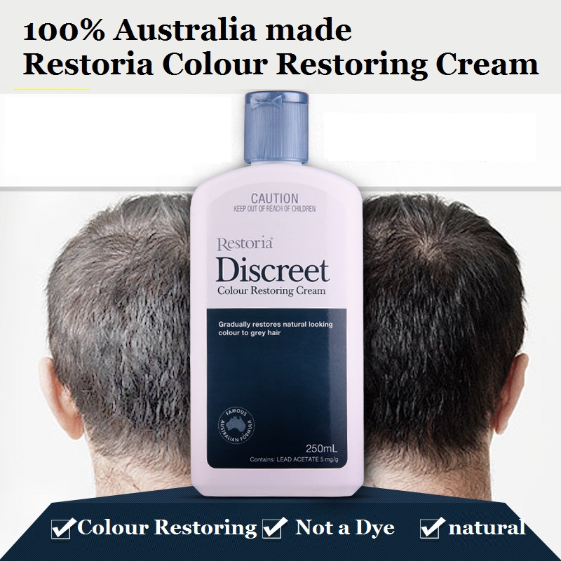Restoria Discreet Colour Restoring Cream/ Lotion, Hair Care 250ml Grey Hair Treatment Reduce Grey Hair - Suitable for Men &Women 1