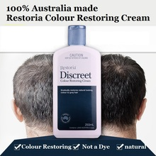 100% Australia made Restoria Discreet Colour Restoring Cream/ Lotion, Hair Care250ml, Reduce Grey Hair – Suitable for Men &Women