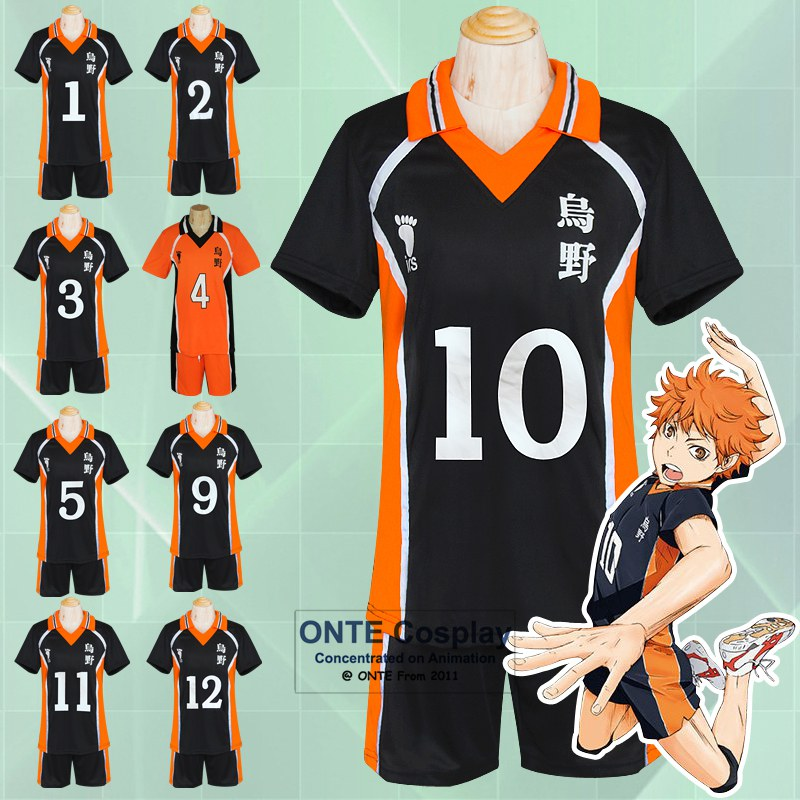 Hot Anime Karasuno High School Club Haikyuu!! Cosplay Costumes Jerseys Hinata Shyouyou Uniform S - XXL