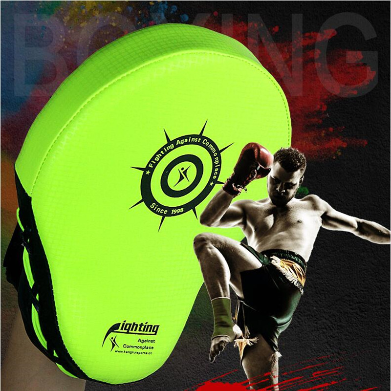 Искусственная кожа Punching Mitts ребенка мужского пола Женские таэквондо ручные накладки каратэ MMA kick Targets Training Glove muay thai Focus Punch Pad