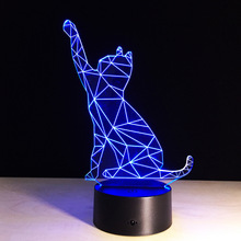 cheap Cartoon Animal Decoration LED Cat Lamp Good Fortune for Office Desk Decor with RGB Color Changing Effect  Made in China,image LED lamps deals